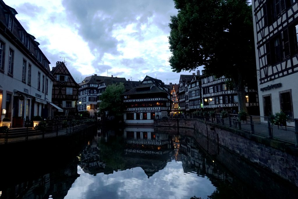 Foto della Petite Venice di Strasburgo.