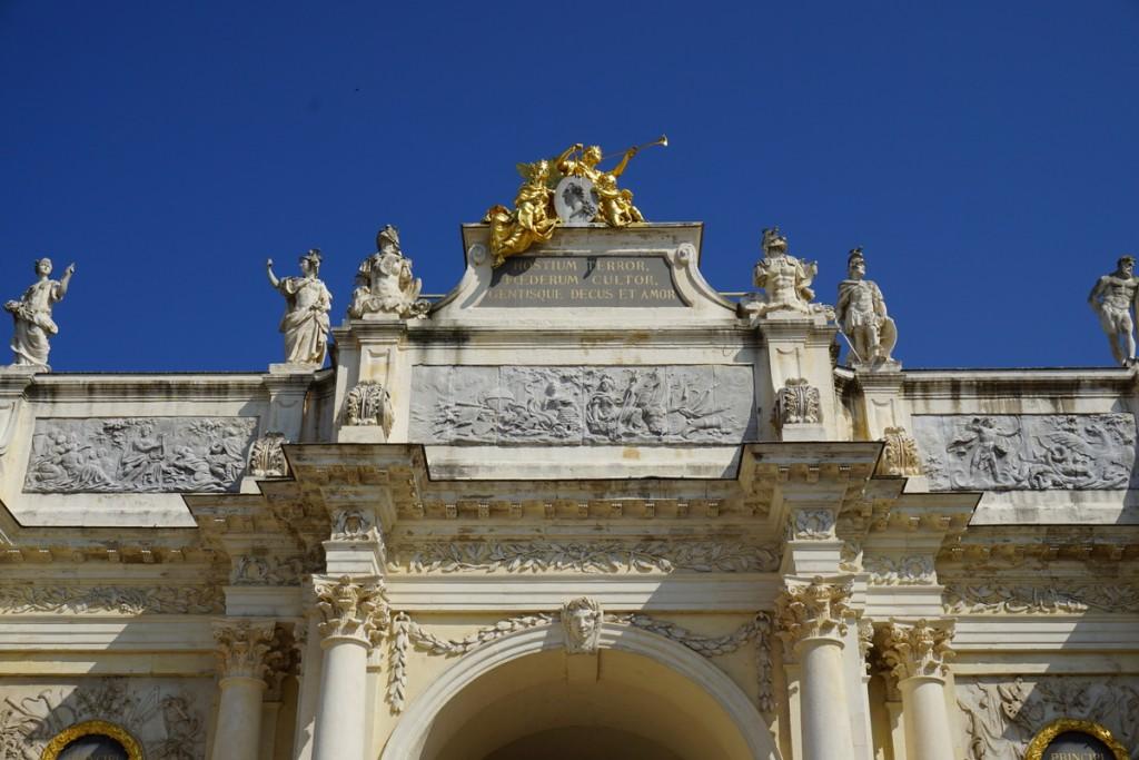 Foto di un dettaglio architettonico a Nancy, Francia.