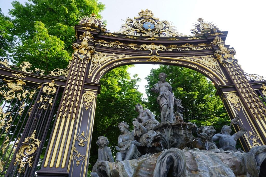 Foto di un dettaglio della Place Stanislas a Nancy, Francia.