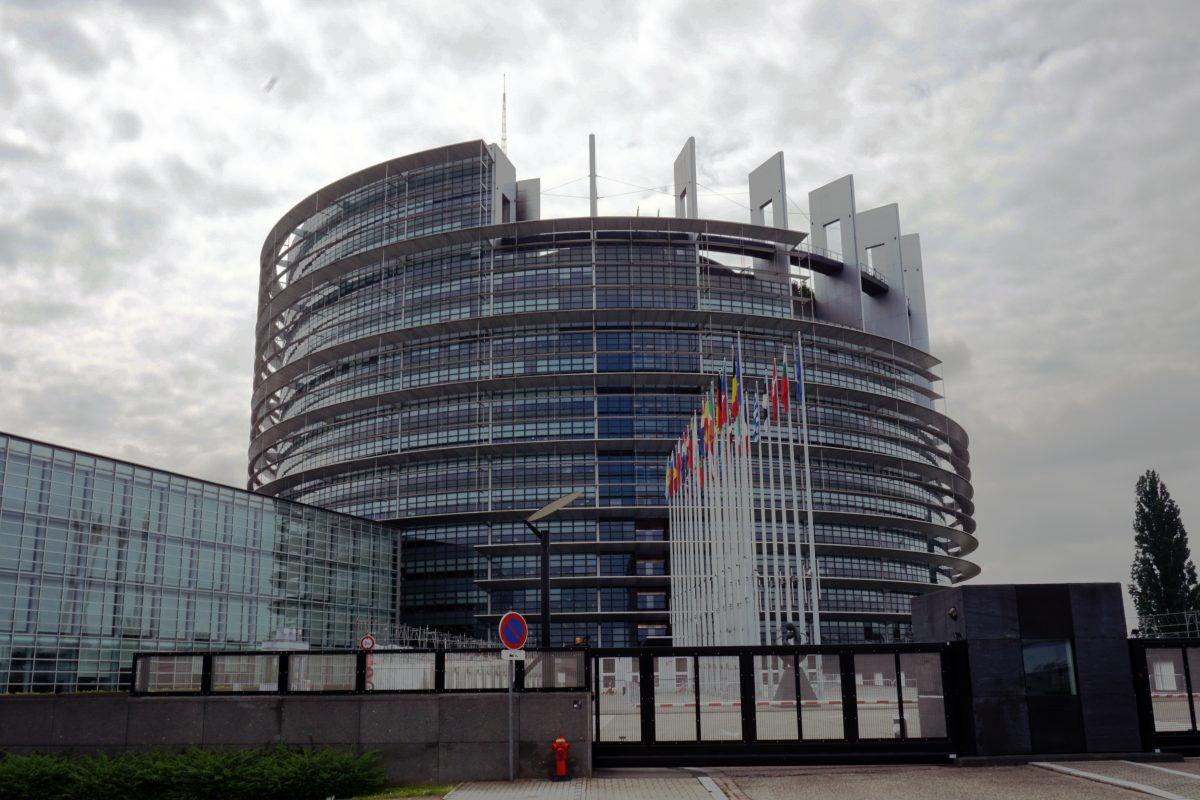Foto del Parlamento Europeo a Strasburgo.