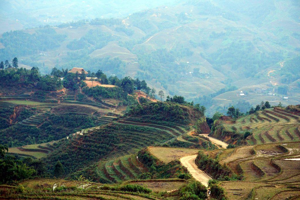 Foto dei terrazzamenti di Sapa, Vietnam.