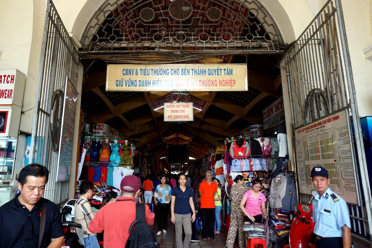 Foto del Ben Thanh Market di Ho Chi Minh City, Vietnam.