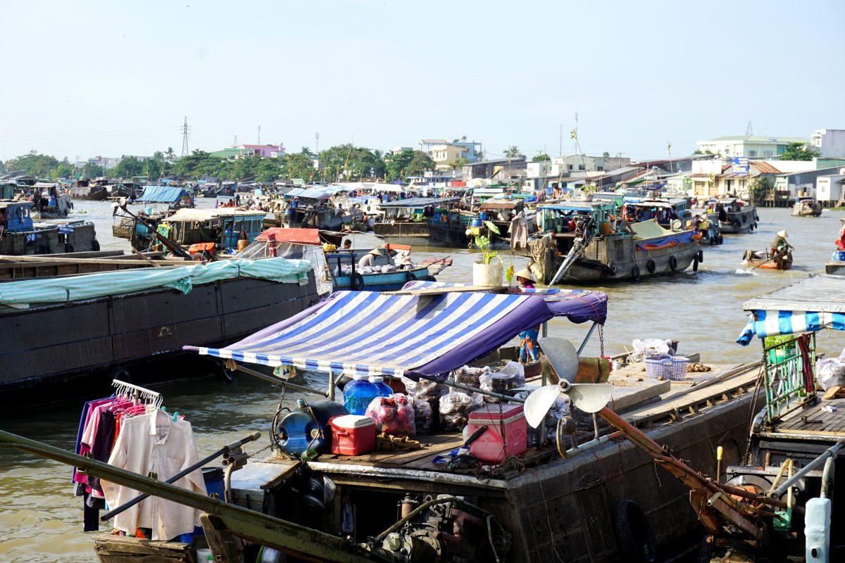 I mercati galleggianti del Mekong Delta
