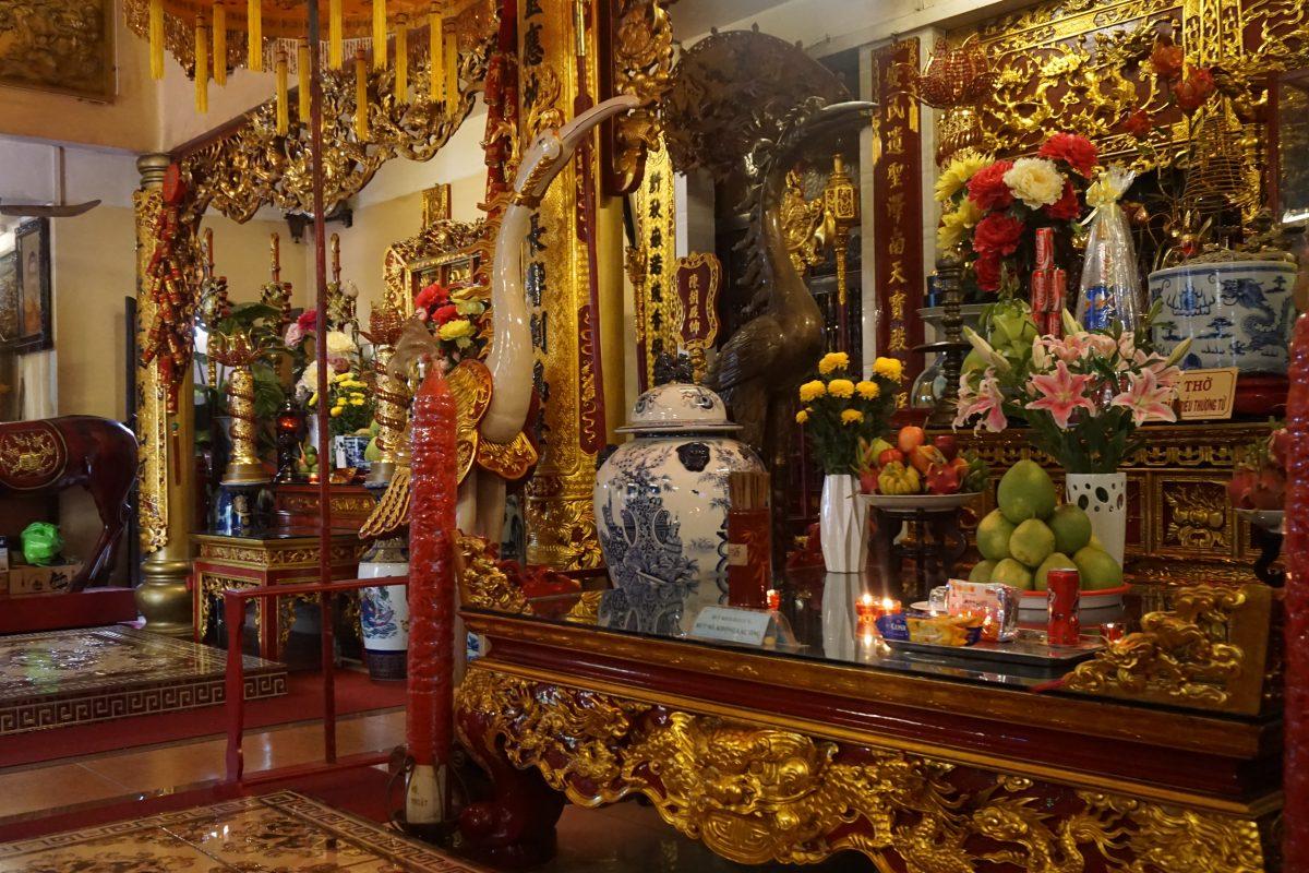 Foto di un tempio a Ho Chi Minh City, Vietnam.