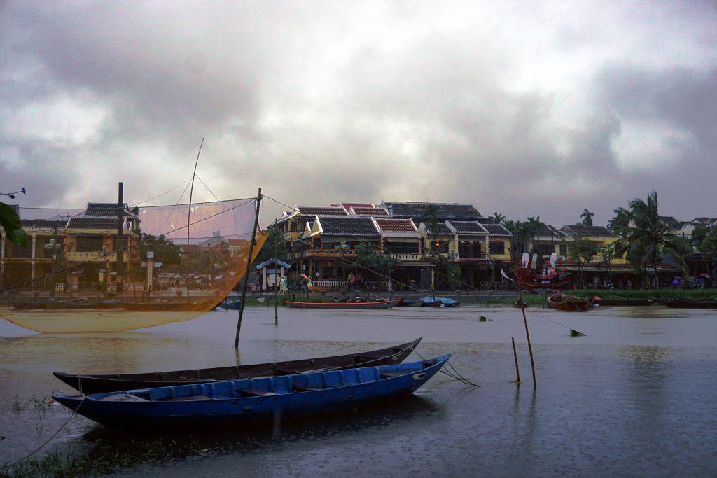 Foto del fiume di Hoi An, Vietnam.