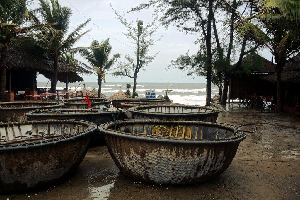 Foto della spiaggia di An Bang vicino ad Hoi An, Vietnam.