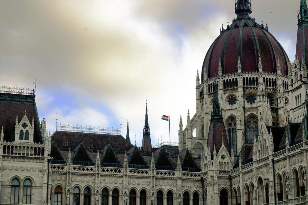 Foto del parlamento di Budapest.