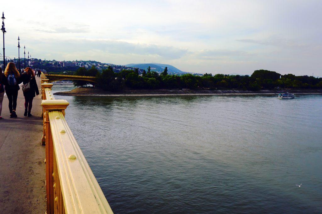 Foto del Danubio e l'Isola Margherita a Budapest.