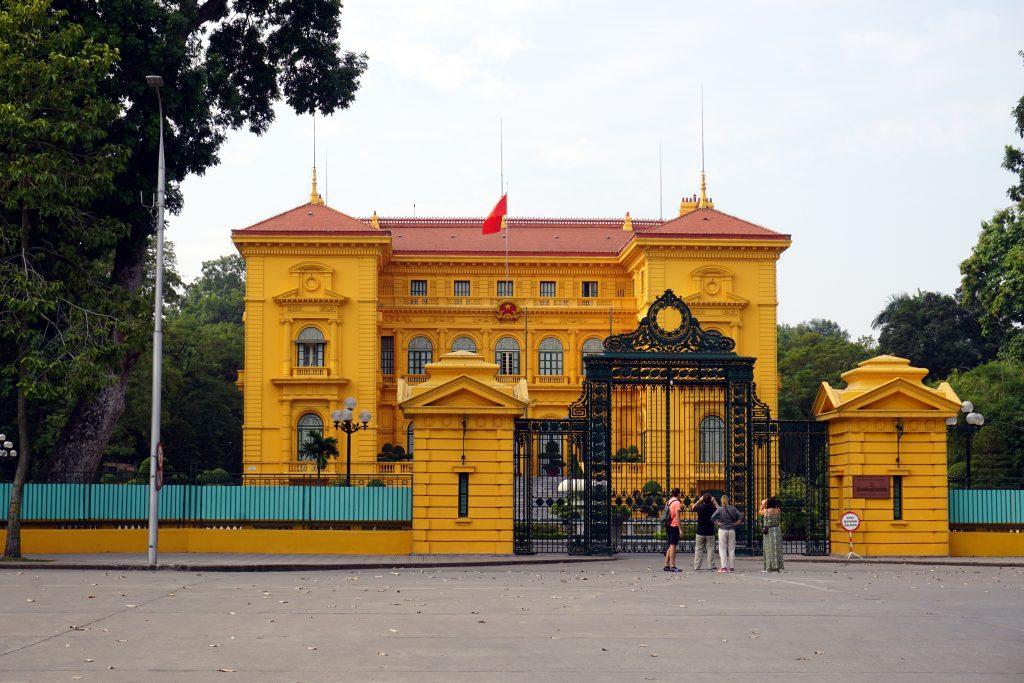 Foto del palazzo presidenziale ad Hanoi, Vietnam.