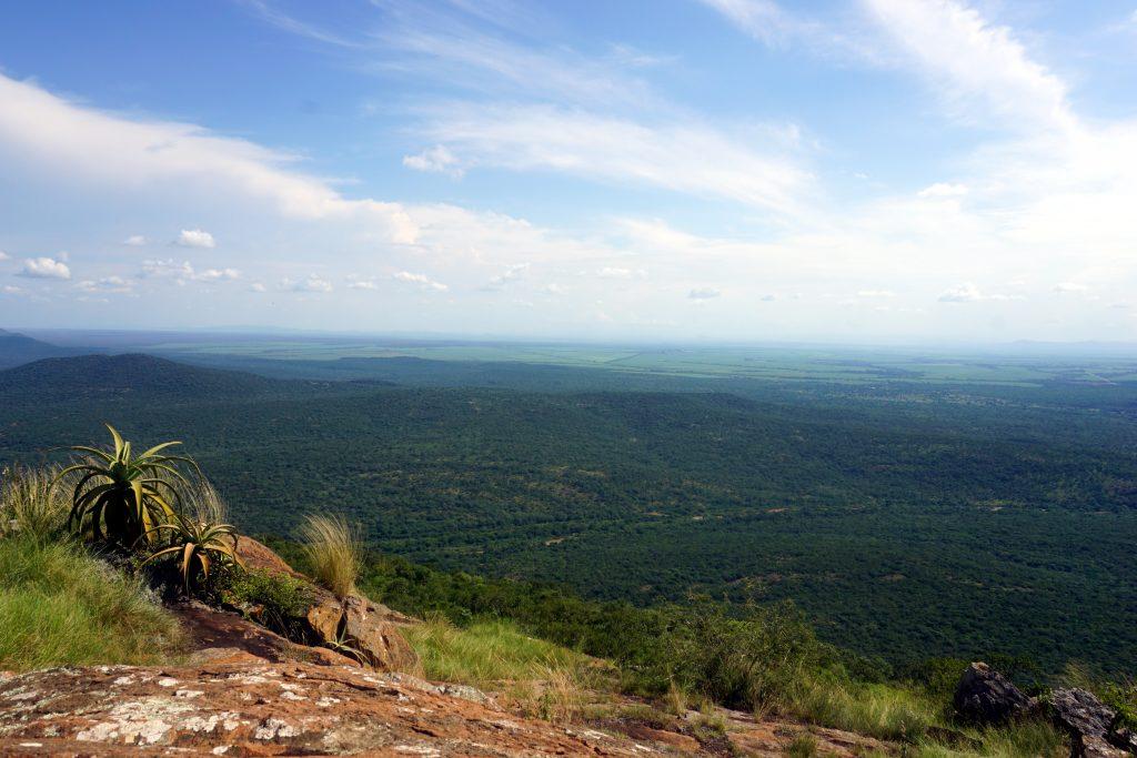 Foto del paesaggio visto dal Shewula Mountain Camp, Swaziland.