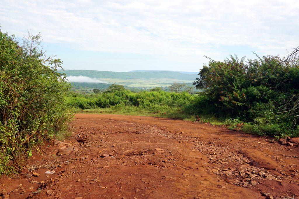 Foto del tratto di strada che porta a Shewula Mountain Camp, Swaziland.