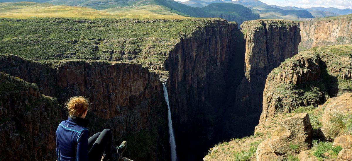 Foto delle Maletsunyane Falls in Lesotho.