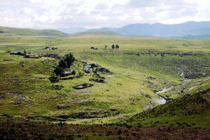 Foto delle alture di Semonkong, bellissimi paesaggi in Lesotho.