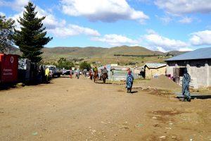 Foto di un paese in Lesotho.
