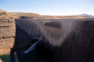 Foto ravvicinata della Katse Dam.