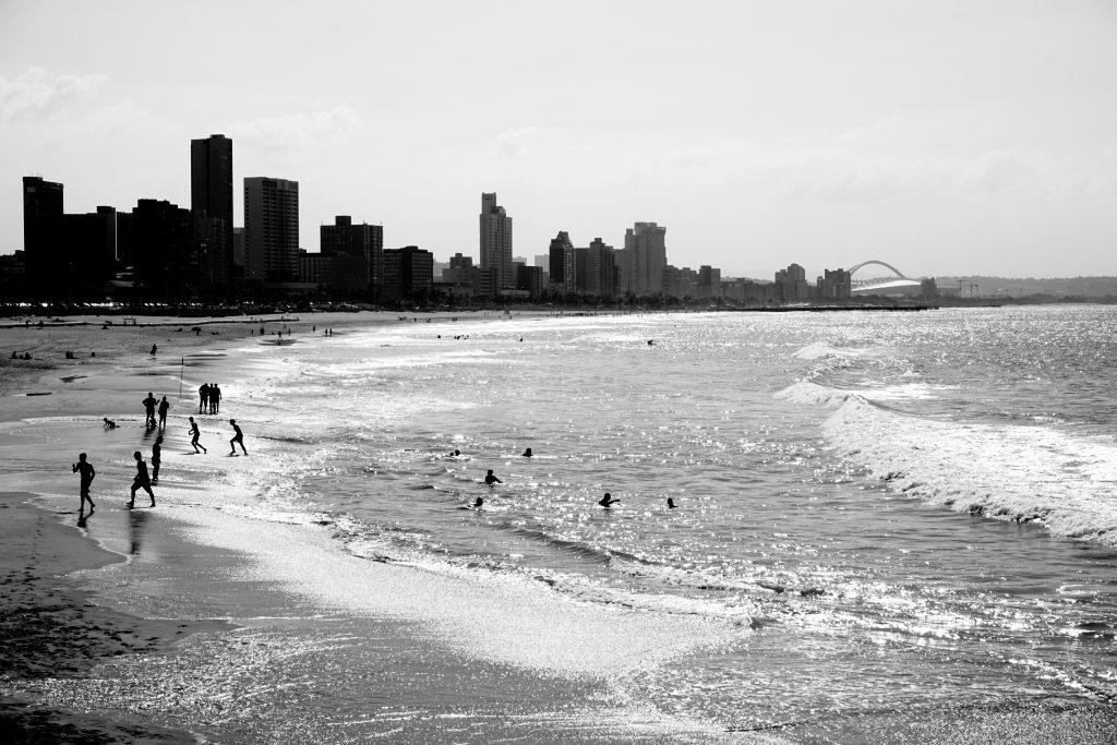 Foto della spiaggia di Durban, Sudafrica.