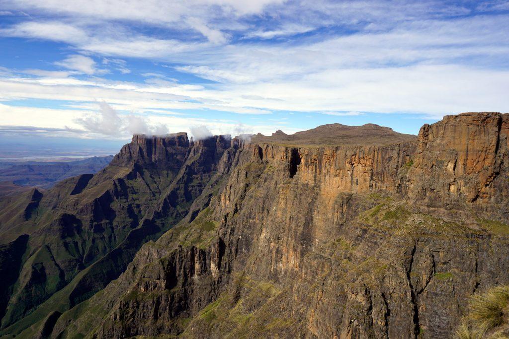 Foto nelle Drakensberg, Tugela Falls, Amphitheatre.