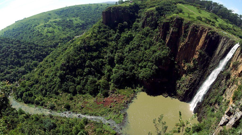Foto delle Howick Waterfalls, in Sudafrica.
