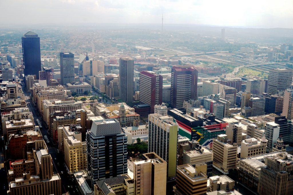 Foto di Johannesburg dall'alto.