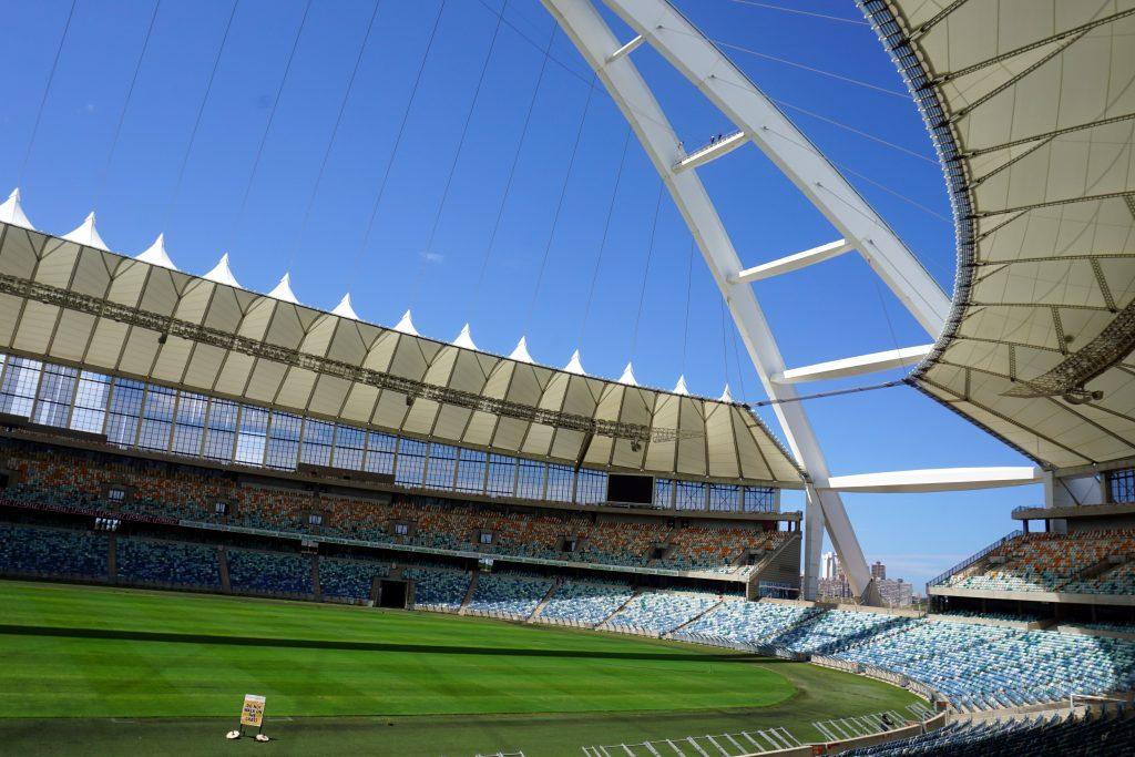 Foto del Moses Mabhida Stadium di Durban, Sudafrica.
