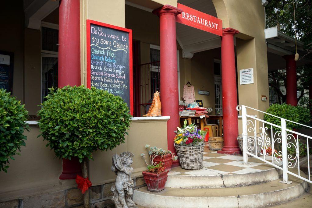 Foto di un ristorante ad Oudtshoorn, Sudafrica.