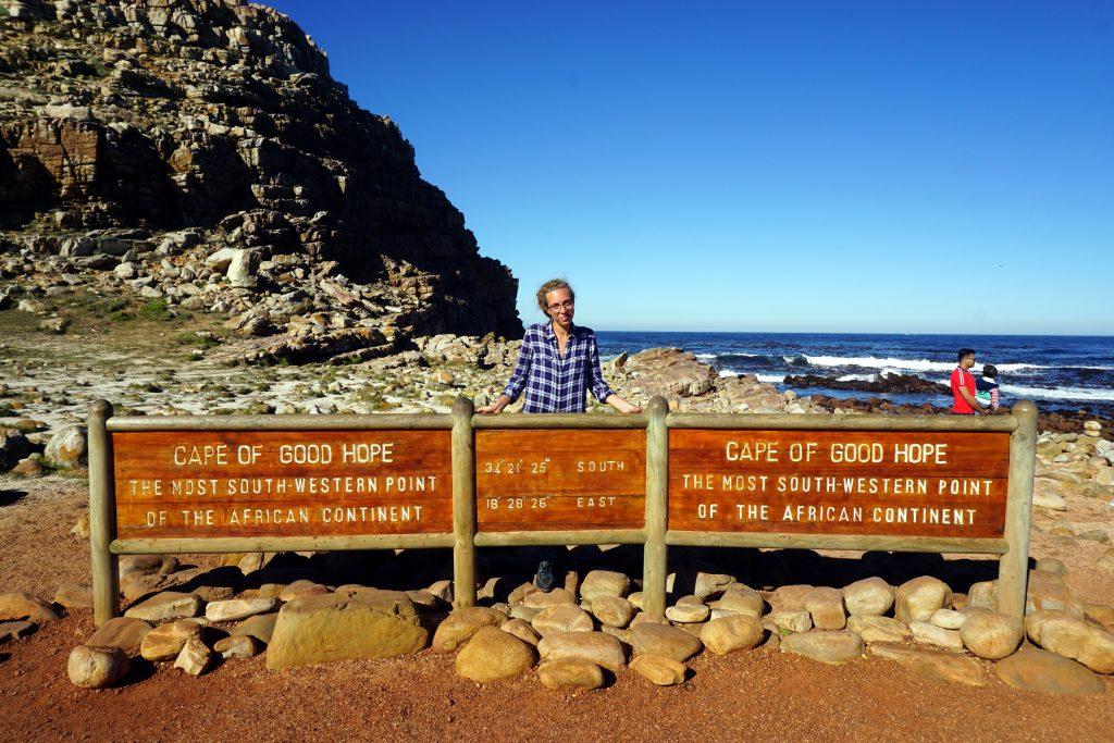 Foto scattata al capo di Buona Speranza, il punto più a sud-ovest del continente africano.