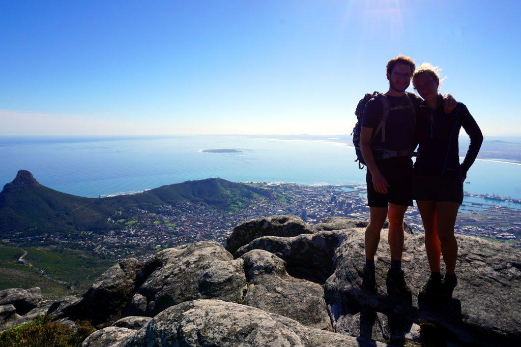 Fotografia scattata dalla cima di Table Mountan, Città del Capo.