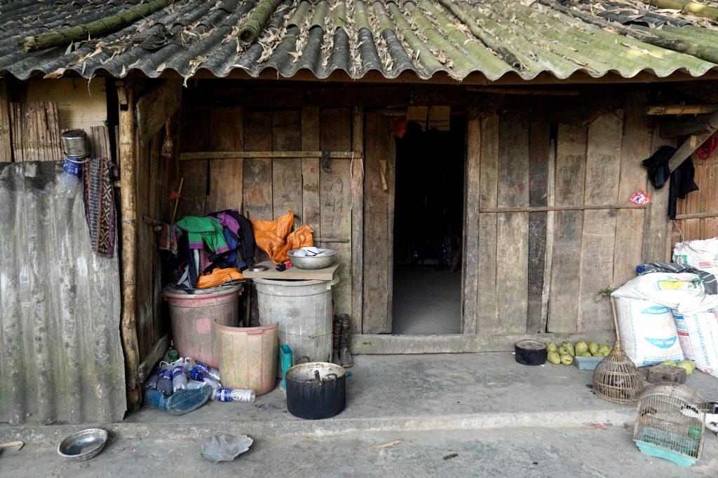 Foto di una casa di legno a Sapa, Vietnam.
