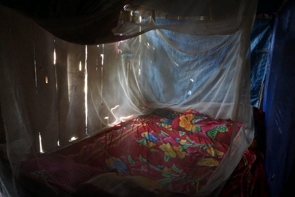Fotografia del letto del nostro homestay a Sapa.