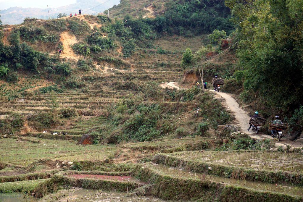 Fotografia della vita quotidiana nella valle di Sapa, Vietnam.