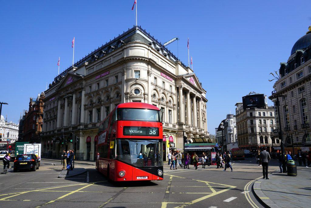 Foto di Piccadilly Circus, Londra.