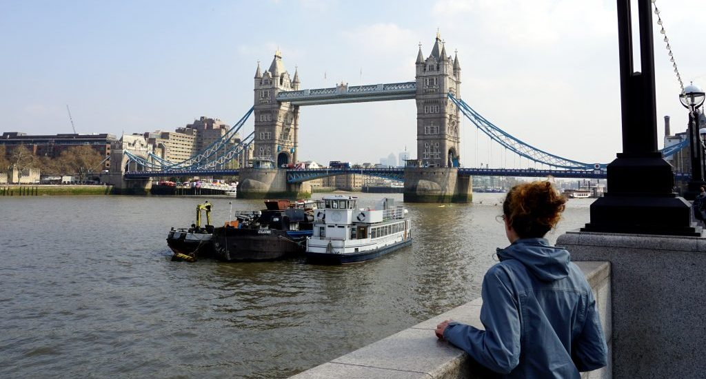 Foto del Tower Bridge a Londra.