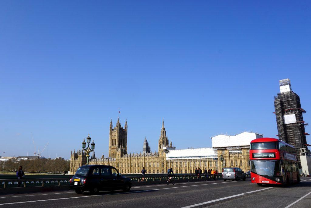 Foto scattata a Londra sul Lamberth Bridge.