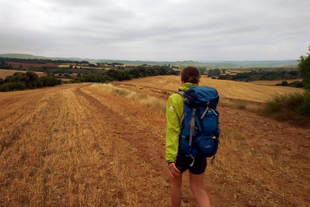 Fotografia di un campo nel Cammino per Santiago de Compostela, in Spagna.