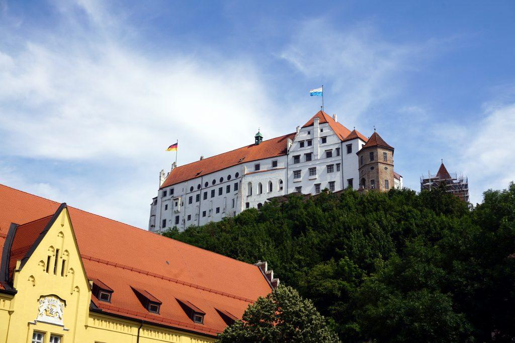 Foto del Burg Trausnitz a Landshut, Baviera.