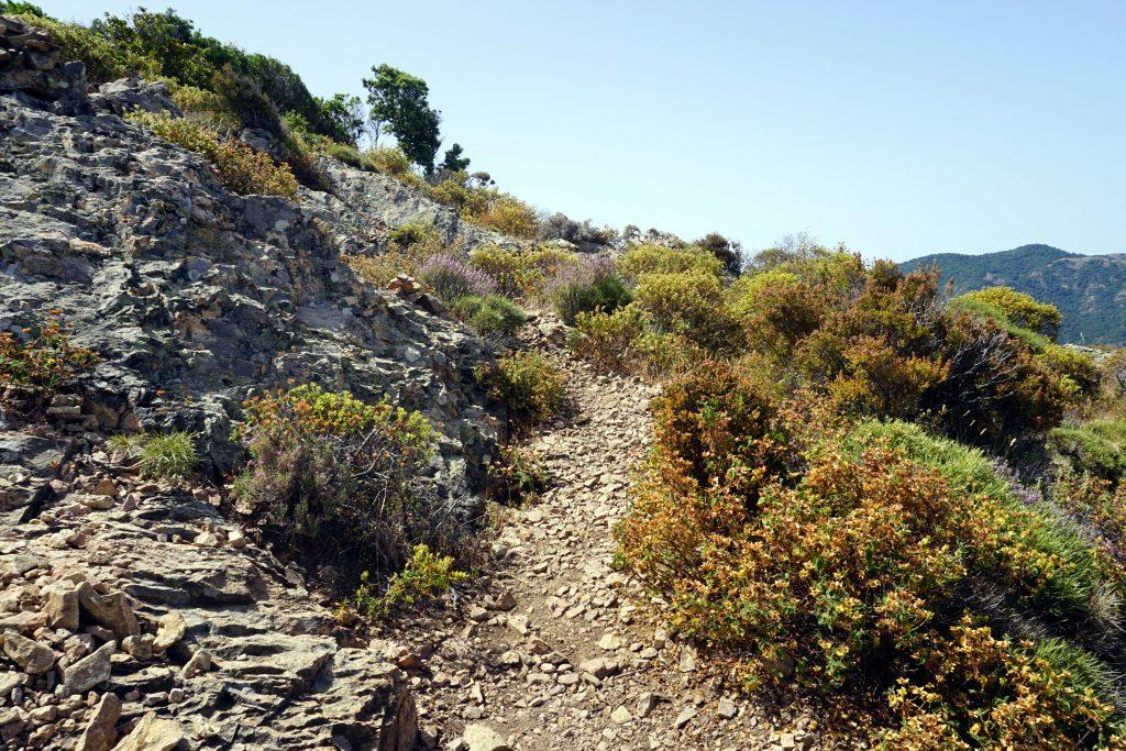 Foto del percorso trekking per Capu Tondu, Corsica.