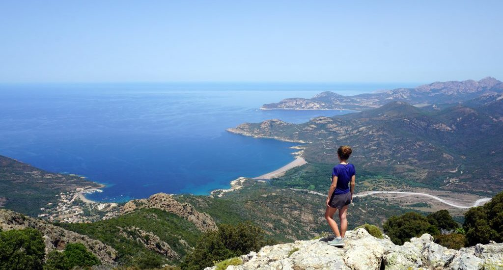 Foto scattata dalla cima di Capu Tondu, Corsica