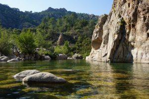 Fotografia del fiume Solenzara.