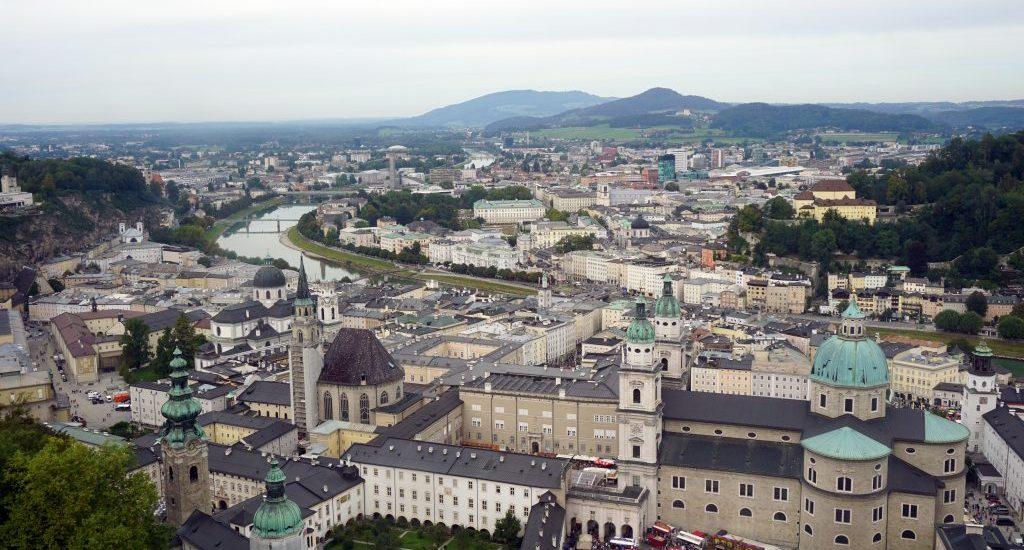 Foto panoramica di Salisburgo, Austria.