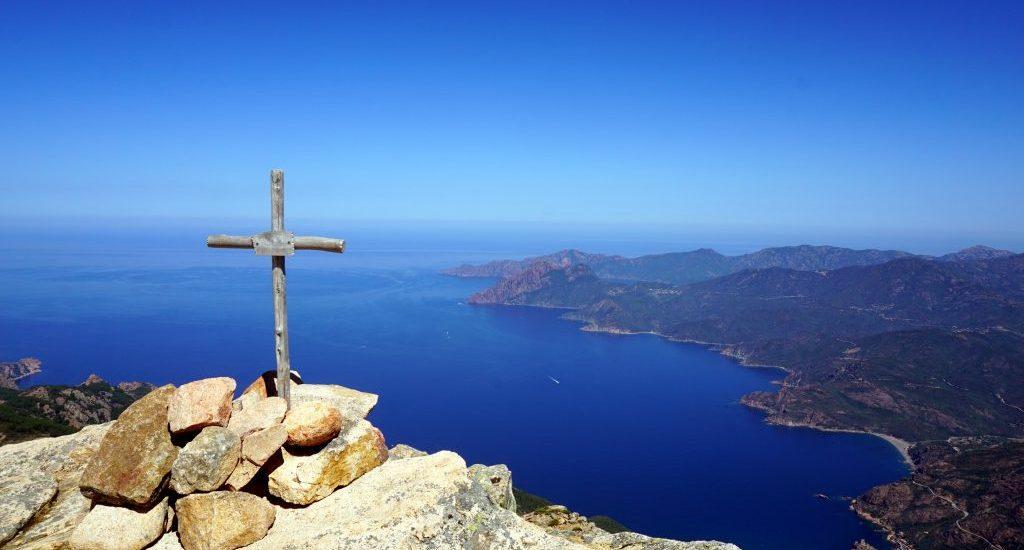 Foto dalla cima di Capu d'Orto, Corsica.