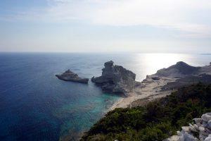 Foto della Plage de Saint-Antoine, vicino a Bonifacio, Corsica.