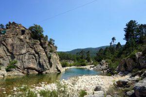 La Via Ferrata della Valle di Solenzara, Corsica.
