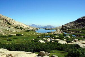 Foto del Lac de l'Oriente durante l'escursione sul Monte Rotondo, Corsica.
