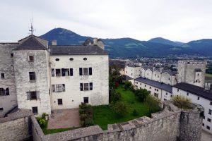 Foto della Fortezza Hohensalzburg a Salisburgo.