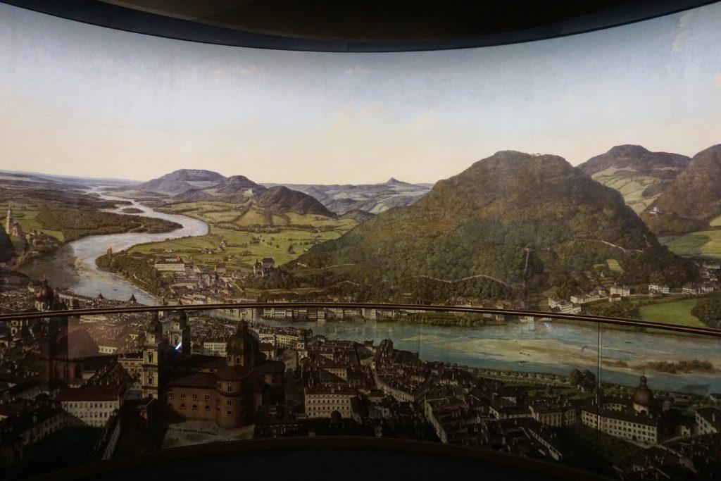 Foto del dipinto panoraico del Panoramamuseum.
