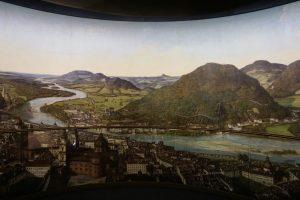 Foto del dipinto panoraico del Panoramamuseum, Salisburgo.