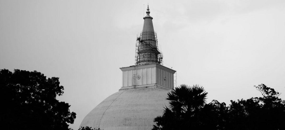 Foto della Ruwanweliseya stupa, Anuradhapura.