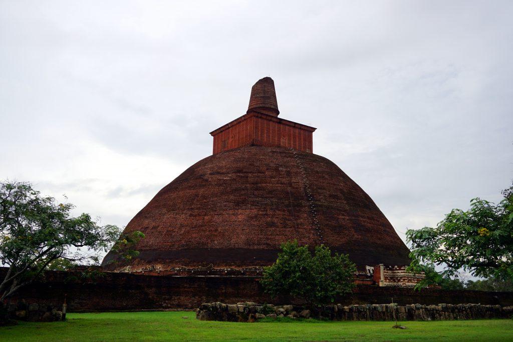 Foto di rovine ad Anuradhapura, Sri Lanka.