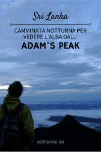 Camminata alba Adam's Peak