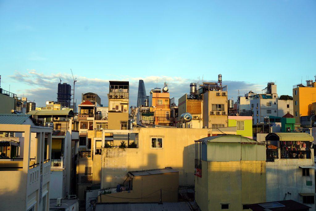 Foto dei palazzi di Ho Chi Minh City.
